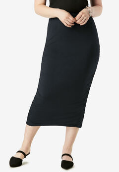 Ruched Pencil Skirt,
