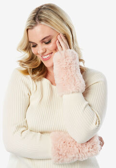 Faux Fur Gloves,