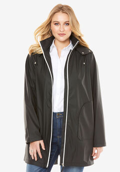 Anorak Raincoat, BLACK, hi-res