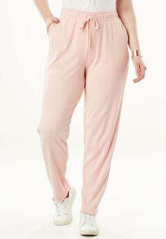 Straight Leg Soft Knit Pant, SOFT BLUSH, hi-res