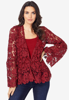 Bell-Sleeve Lace Jacket,