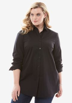 Stretch Shirt, BLACK, hi-res