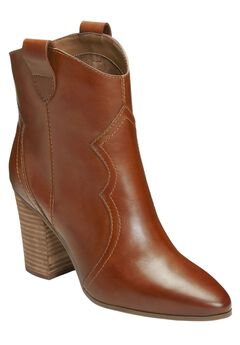 Lincoln Square Booties by Aerosoles®, DARK TAN LEATHER, hi-res