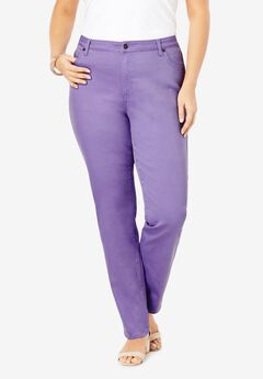Straight-Leg Jean with Invisible Stretch® by Denim 24/7®, VINTAGE LAVENDER