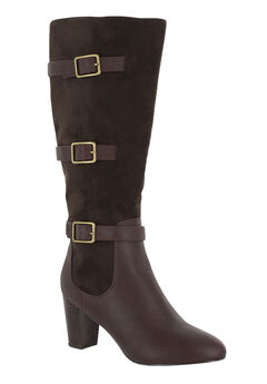 Talina II Plus Wide Calf Boots by Bella Vita®, BROWN