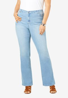 Bootcut Jean with Invisible Stretch® by Denim 24/7®, LIGHT STONEWASH