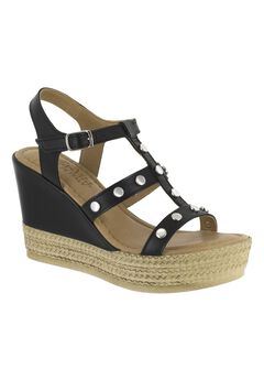 Rin-Italy Sandals by Bella Vita®, BLACK LEATHER, hi-res
