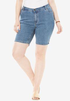 Denim Shorts by Denim 24/7, LIGHT STONEWASH, hi-res