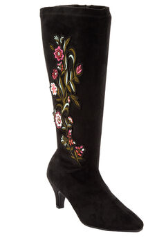 The Rowen Boot by Comfortview®, BLACK EMBROIDERY, hi-res