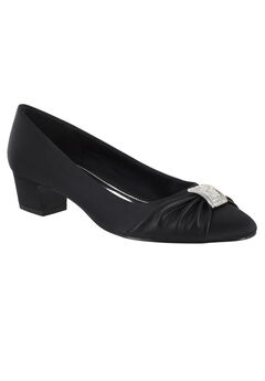 Eloise Pumps by Easy Street®, BLACK SATIN, hi-res