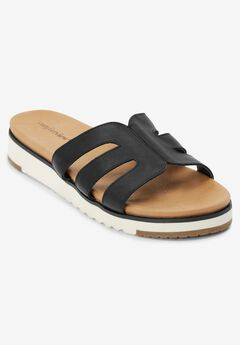 The Gracia Footbed Sandal by Comfortview®, BLACK
