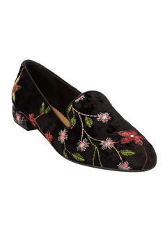 The Colleen Flat by Comfortview®, BLACK FLORAL, hi-res