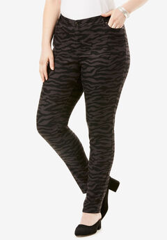Skinny Jean By Denim 24/7®, BLACK GREY ZEBRA