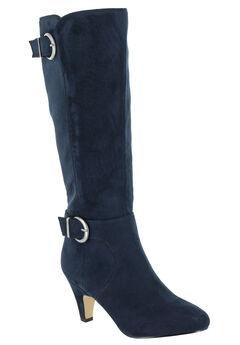 Toni II Regular Calf Boots by Bella Vita®, NAVY SUPER SUEDE, hi-res