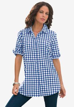 French Check Big Shirt, RICH BLUE CHECK