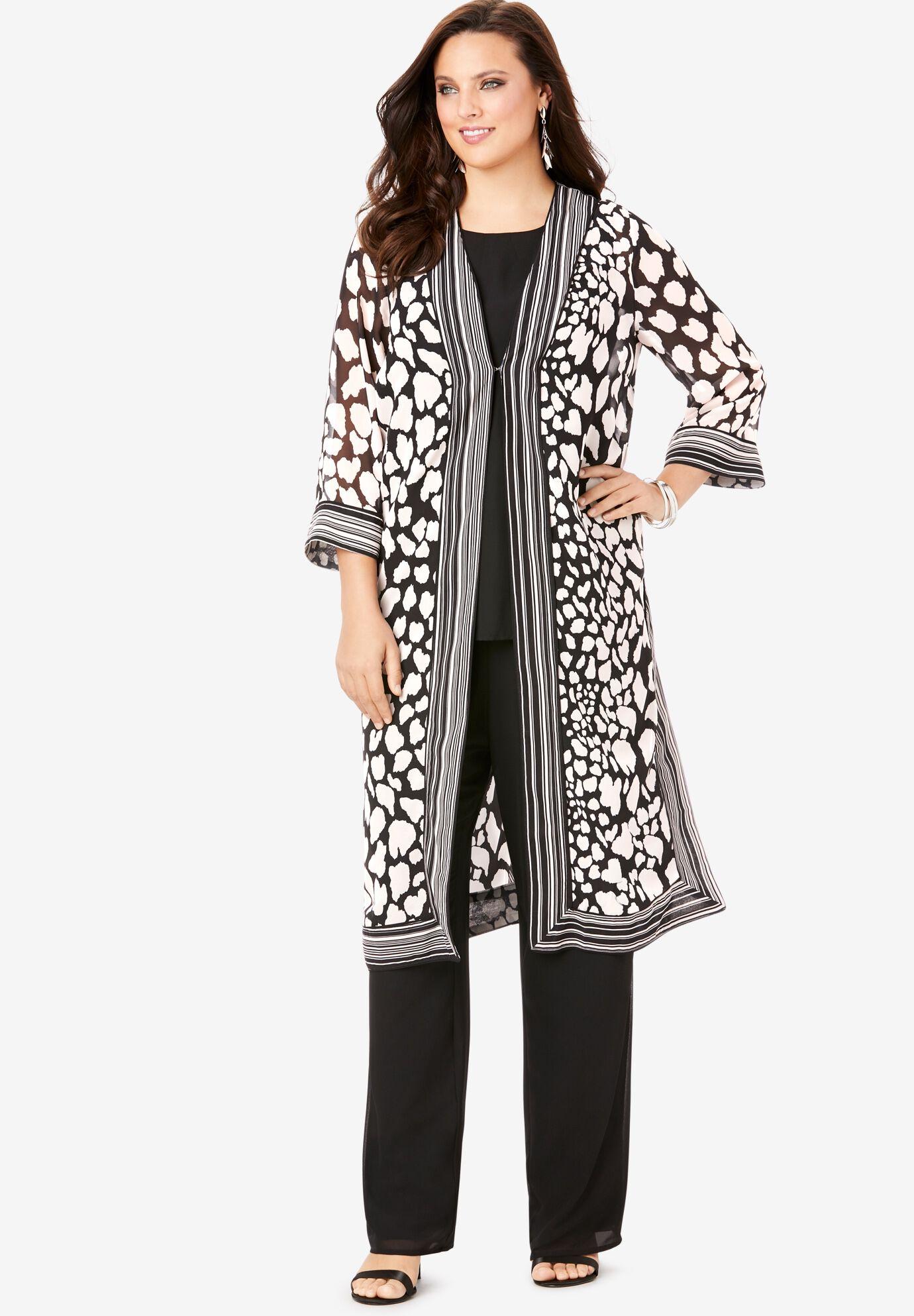 Women 2 Pieces Tee Top Formal Work Short Length Plus Size Palazzo Pants Suit Sets