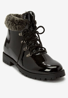 The Vylon Hiker Bootie , BLACK PATENT
