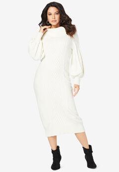 Turtleneck Sweater Dress,