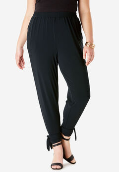 Cinched Ankle Jogger with Ties,