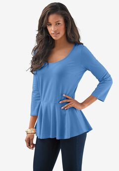 Peplum Runway Tee by Denim 24/7,