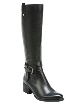 Dev Wide Calf Boots by Naturalizer®, BLACK, hi-res
