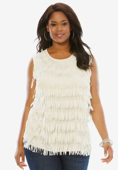 Fringe Top, IVORY, hi-res