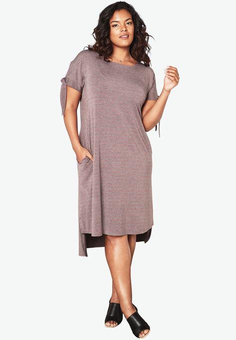T Shirt Dress Plus Size Dresses Roamans