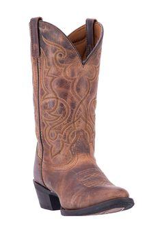 Maddie Cowboy Boots by Laredo , TAN, hi-res