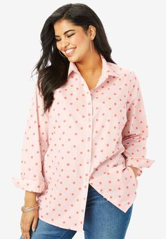 The Kate Shirt, BLUSH PAINTED DOT