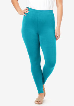 Ankle-Length Essential Stretch Legging, DEEP TURQUOISE