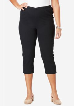 Capri Pull-On Stretch Jean by Denim 24/7®, BLACK DENIM