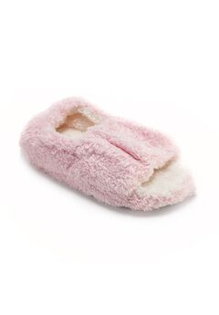 Micro Terry Open-Toe Full Foot Slipper,