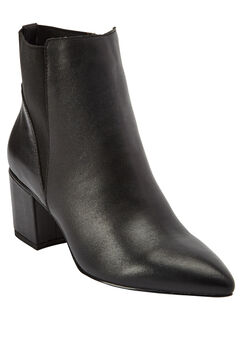 Maxton Leather Booties by Comfortview, BLACK, hi-res