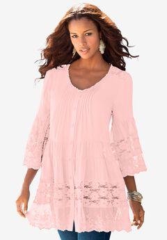 Illusion Lace Big Shirt.,