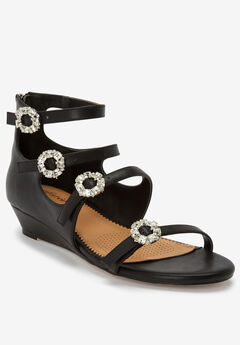 The Hilary Sandal by Comfortview®, BLACK