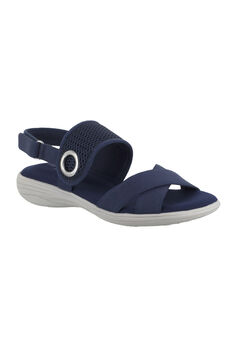 Shae Sandals by Easy Street®, NAVY, hi-res