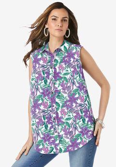 Sleeveless Kate Big Shirt,
