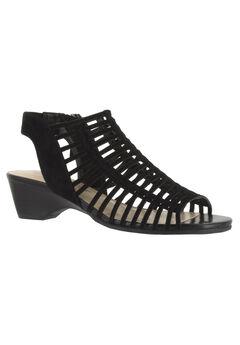 Pacey Sandal by Bella Vita®, BLACK KID SUEDE