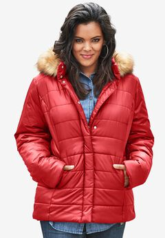 Quilted Parka, PEPPER RED, hi-res