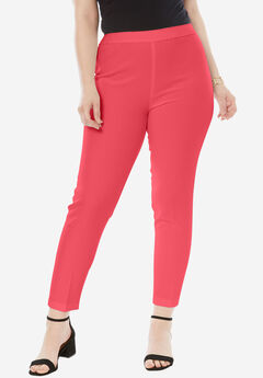 The Bend Over Ankle Pant, CORAL RED, hi-res