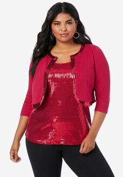 Sequin Bolero Cardigan,