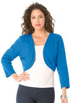 Cropped Bolero Cardigan, VIBRANT BLUE, hi-res