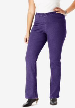 Bootcut Pull-On Stretch Jean by Denim 24/7®, MIDNIGHT VIOLET