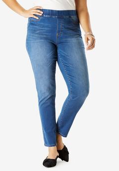 The No-Gap Jegging by Denim 24/7®, MEDIUM STONEWASH