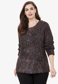 Metallic Eyelash Sweater, MULTI, hi-res