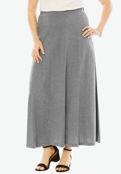 Knit Maxi Skirt, MEDIUM HEATHER GREY, hi-res