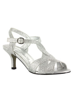 Glamorous Pump by Easy Street®, SILVER GLITTER