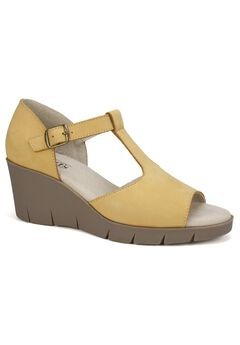 Parisia Leather Wedge ,