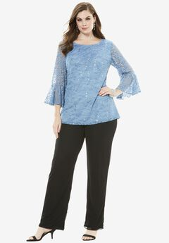 Lace Pantsuit, BLUE LACE, hi-res