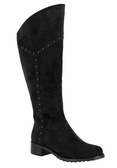 Alanis II Wide Calf Boots by Bella Vita®, BLACK SUEDE, hi-res